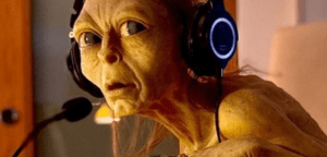 Gollum livestreaming The Hobbit for charity