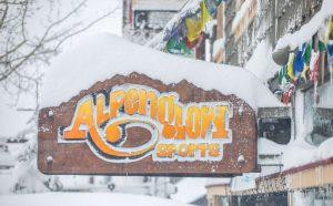 ski shop gives back