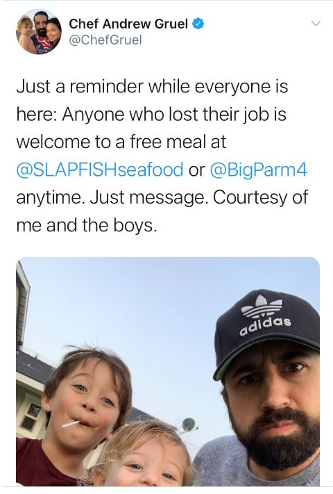 Chef is Offering Free Meals to Jobless