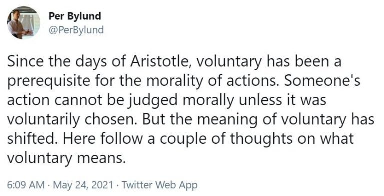 """meaning of """"voluntary"""""""